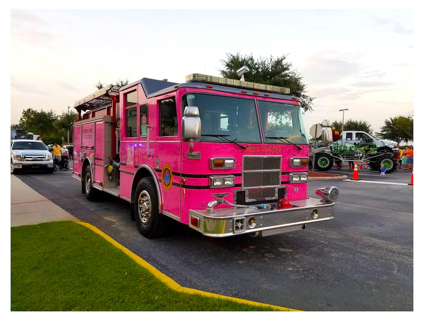 "Most of us know about the ""National Night Out"" program. This program is focused towards law enforcement.  It was great to see the City of Deltona, Florida's Fire Department fully engaged in this year's event.  Fire Fighters and Chief Bill Snyder were on hand to show kids a front line fire apparatus and various fire frightening equipment.  YES, the Pink Engine, Eng 82 is a front line unit. The engine was on display with 100's of signatures of cancer patients from the community.  This engine has become a symbol of hope. WELL DONE, Chief Snyder and Deltona Fire Department.     Larry Stone Director of Emergency Operations - Volusia County 1-800-Board-Up / Orange County Construction 911"